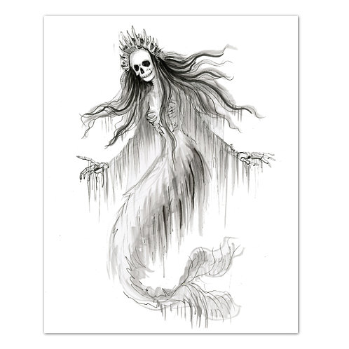 "Merqueen Sea Witch - 8"" x 10"" Art Print"
