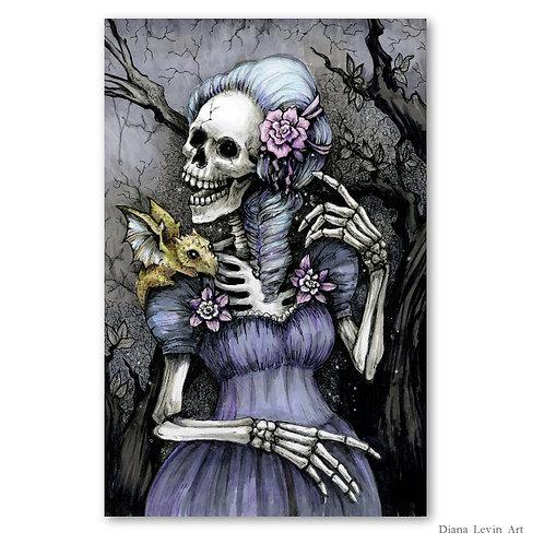 "Lady Famila Macabre 11"" x 17"" Art Print"