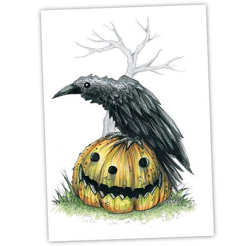 "Raven Waits - 5"" x 7"" Art Print"