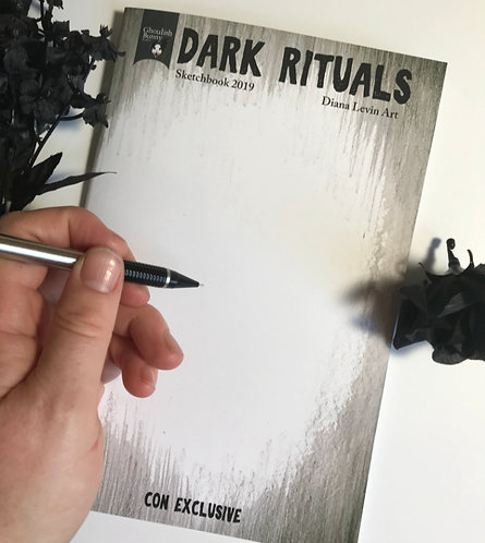 Sketchbook with Original Drawing Cover