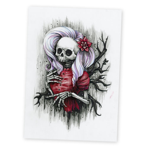 Hollow Skully Original Drawing