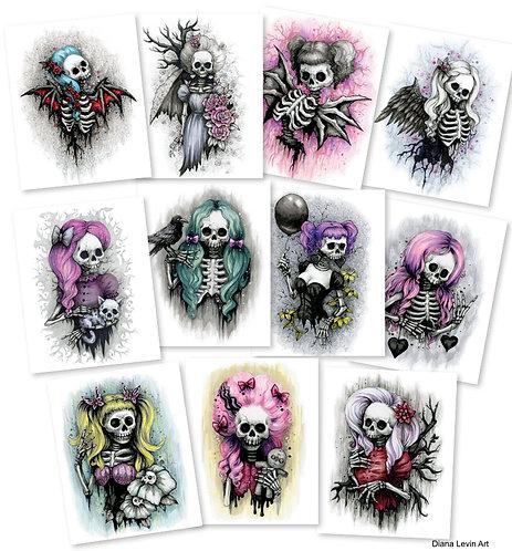 Skully Art Prints - Choose  2 for $35