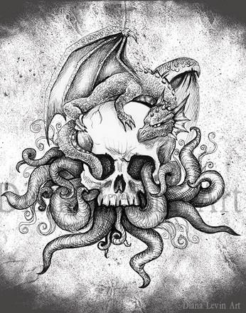 Dragon Skull Art