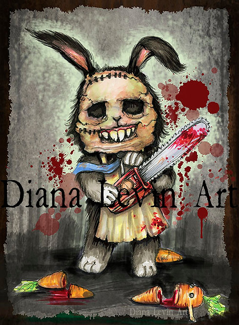 Limited Edition Leatherface Bunny Print