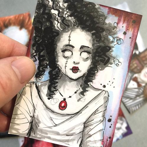 Bride of Frankenstein Original Sketchcard