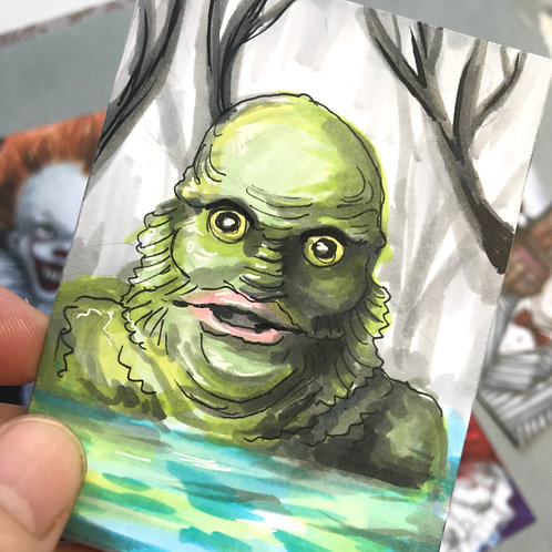 Creature from the Black Lagoon Original Sketchcard