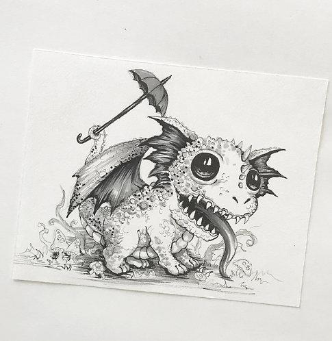 Spikey Original Drawing