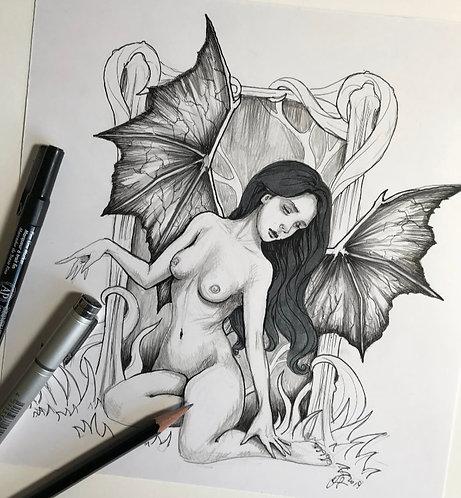 Demon Fairy Original Drawing