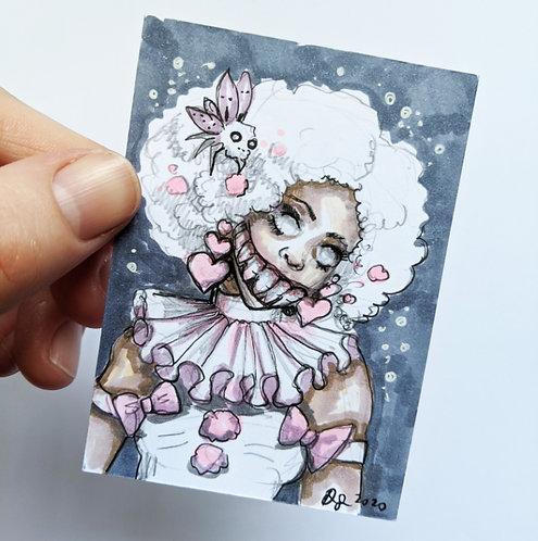 Marsha the Clown Original Sketchcard
