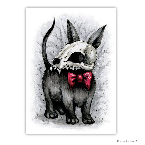 """Death Hound  5"""" x 7"""" Art Print"""