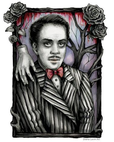 Gomez Addams Gothic Horror Art