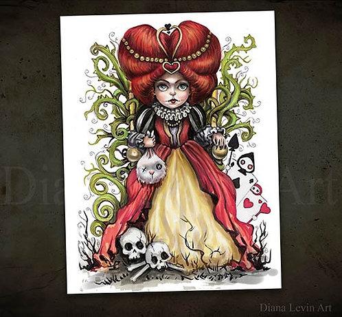 Queen of Hearts -Alice in Wonderland-Art Print