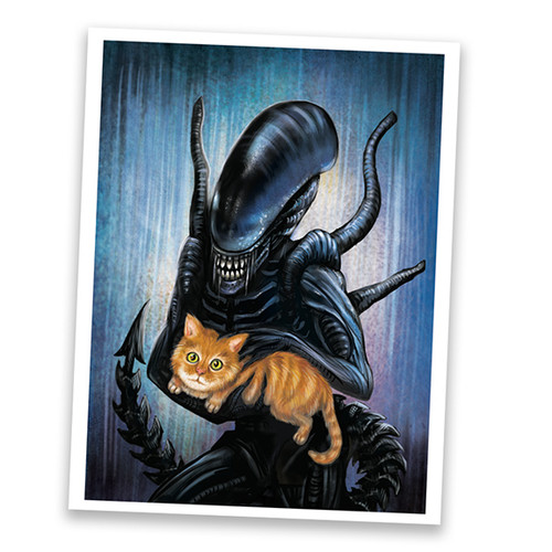 Alien And Jonesy Art Print