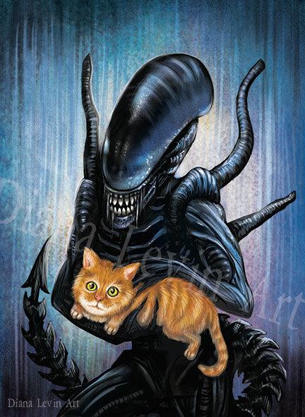 Alien and Jonesy Art Print
