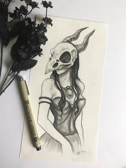 Scavena Original Drawing