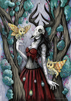 Moth Witch Art