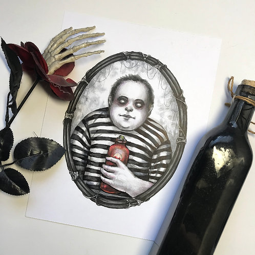 Pugsley Addams Original Drawing