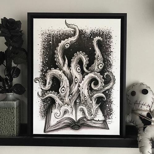 tentacle cthulhu cosmic horror canvas print Diana Levin art