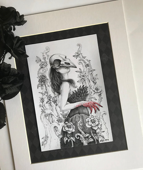 Ravena Matted Original Drawing
