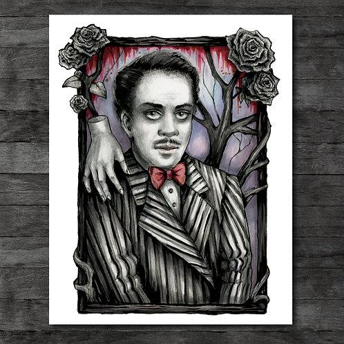 "Gomez Addams 11"" x 14"" Art Print"