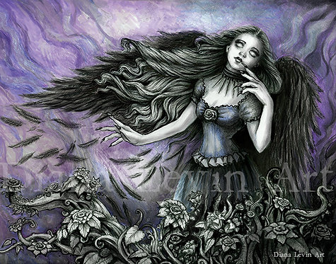 "Muse of the Raven 14"" x 11"" Art Print"
