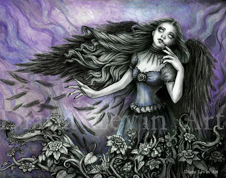 Muse of the Raven Gothic Fantasy Art