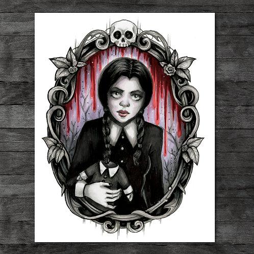 "Wednesday Addams 11"" x 14"" Art Print"