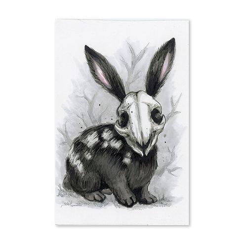 Death Bunny Original Drawing