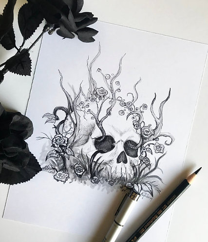 Overgrown Original Drawing