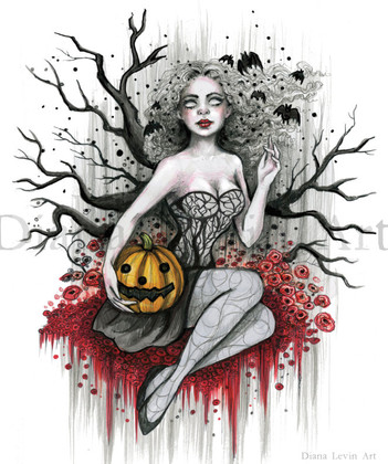 Witchy Vibes Halloween Art