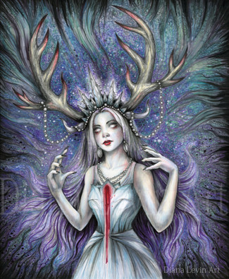 Snow Queen Witchy Art