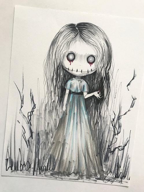 Dolly Smiles Original Drawing