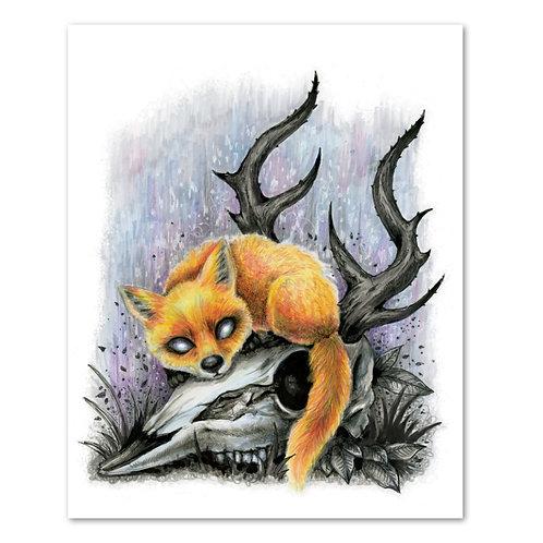 """Fox Skull - 8"""" x 10"""" Art Print"""