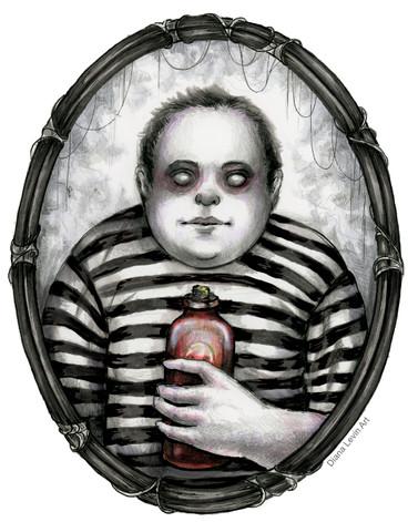 Pugsley Addams Gothic Horror Art