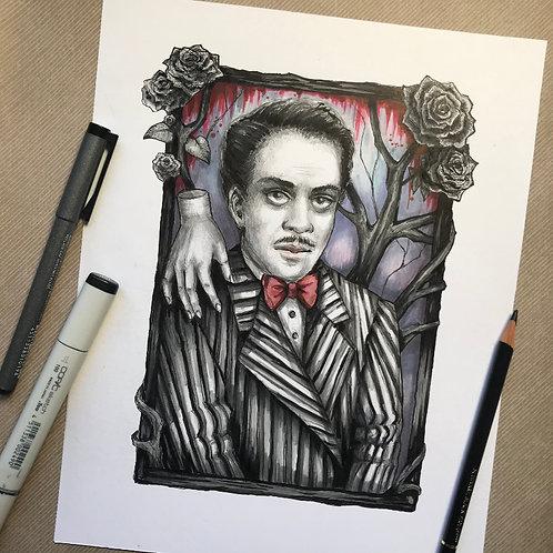 Gomez Addams Original Drawing