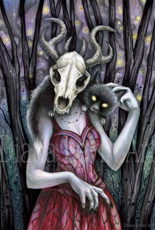 Dark Fox Witch Art