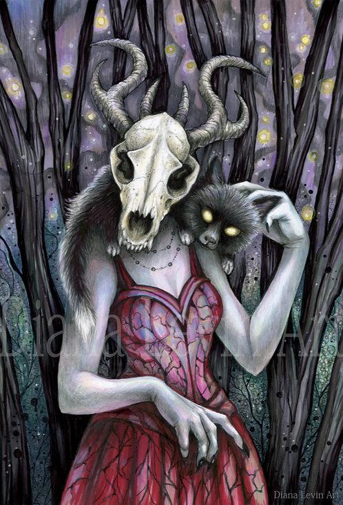 "Meluna the Witch 11"" x 17"" Art Print"