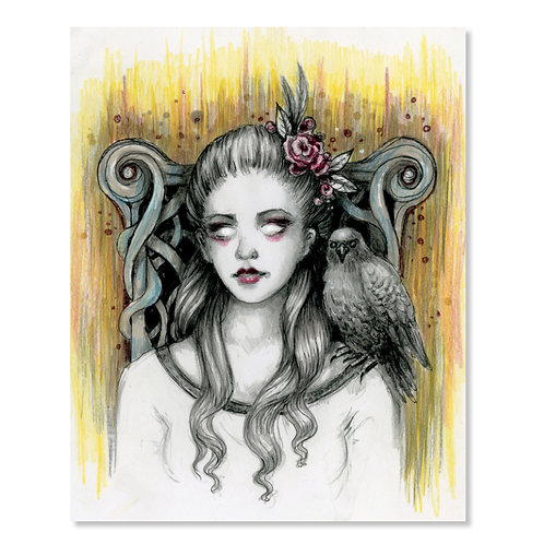 "Isabelle - Her Witchy Ways- 8"" x 10"" Art Print"