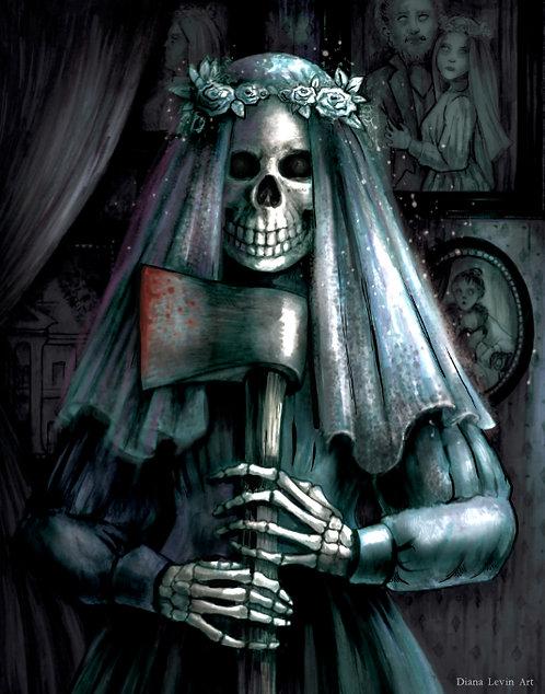 "The Bride- Haunted Mansion 11"" x 14"" Art Print"