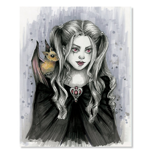 "Killean - Vampire Witch- 8"" x 10"" Art Print"