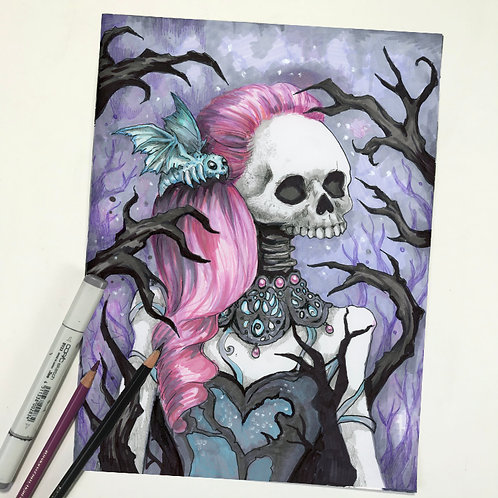 Marydeath the Goth Original Drawing