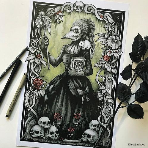 "Ms. Pestilence 11"" x 17"" Art Print"