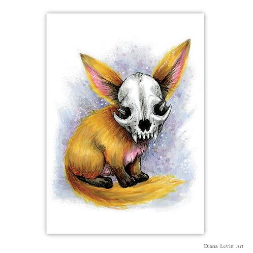 """Lucky Fox  5"""" x 7"""" Art Print"""