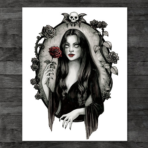 "Morticia Addams 11"" x 14"" Art Print"