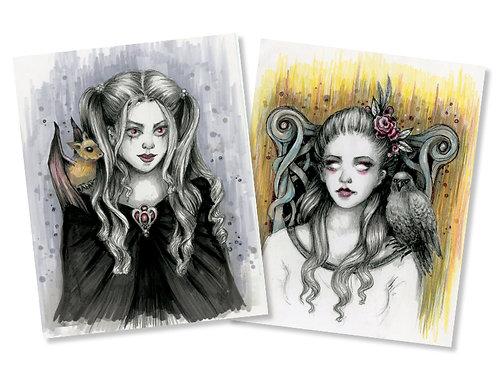 "2 for $30 Deal - Killean & Isabelle - 8"" x 10"" Art Prints"