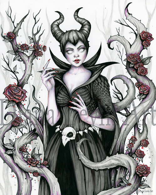 "Maleficent 11"" x 14"" Art Print"
