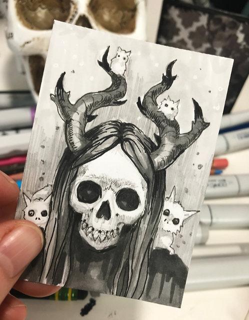 Nightly Creature Original Sketchcard