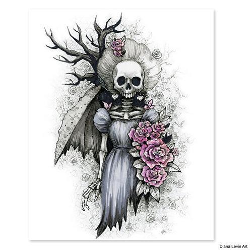 "Matron of Dishonor Skully- 8"" x 10"" Art Print"