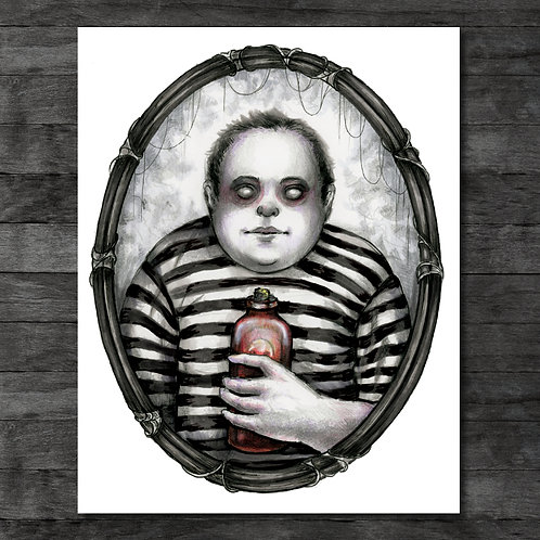 "Pugsley Addams 11"" x 14"" Art Print"