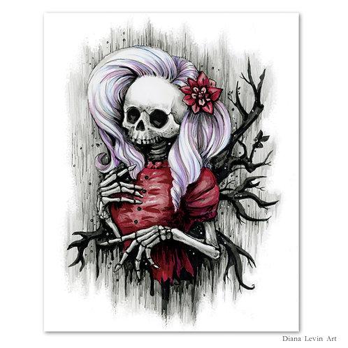 "Hollow Skully- 8"" x 10"" Art Print"